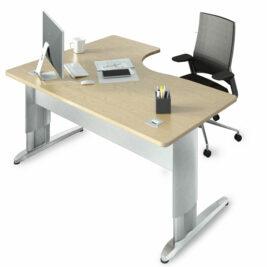 bureau compact individuel reglable en hauteur
