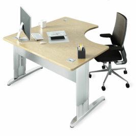 bureau-compact-symetrique-larg-140-ligne-plus-reglable-en-hauteur-blanc-erable
