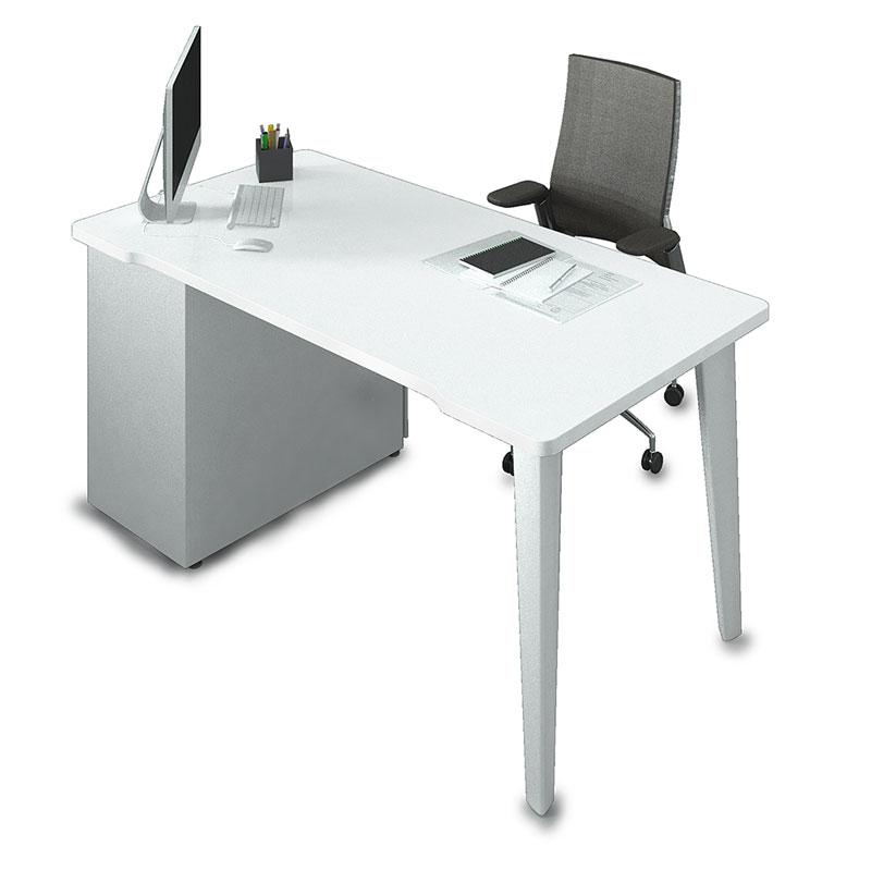 bureau individuel droit ligne l gance armoire plus. Black Bedroom Furniture Sets. Home Design Ideas