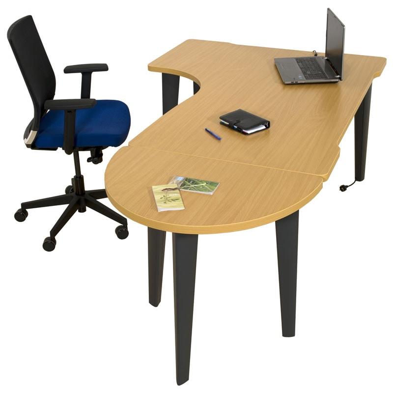 Bureau individuel compact 90 ligne l gance armoire plus for Meuble bureau compact