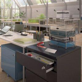 caissons de bureau avec une table