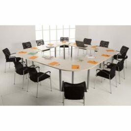 table-reunion-carre-12-places-12-pieds-ligne-PLUS