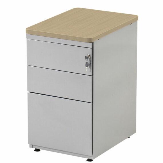 caisson de bureau chene clair avec cle et serrure