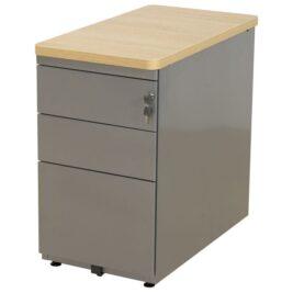 caisson de bureau aluminium chene clair