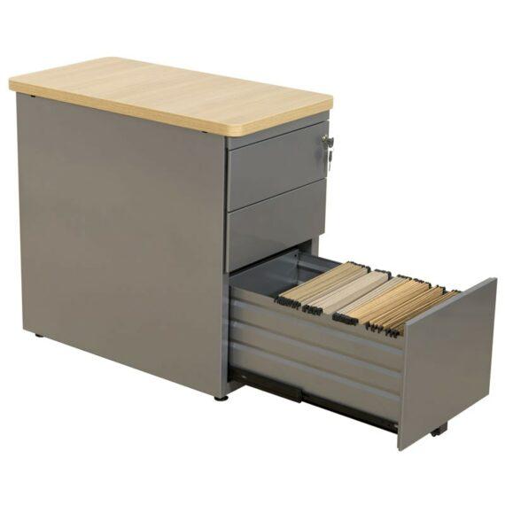 caisson de bureau avec un tiroir ouvert