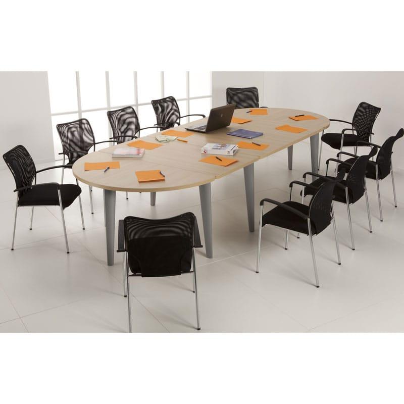 Table de reunion oblongue 10 places