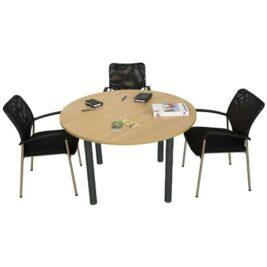 table-reunion-ronde-4-places-4-pieds-tube-ligne-PLUS-anthracite-chene-clair