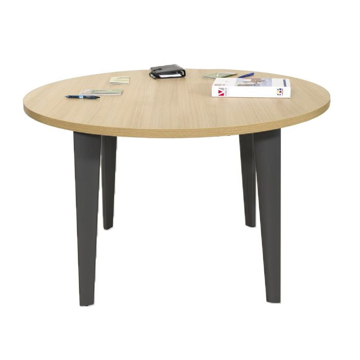 table-reunion-ronde-diametre-120-cm-ligne-elegance-4-pieds-anthracite-chene