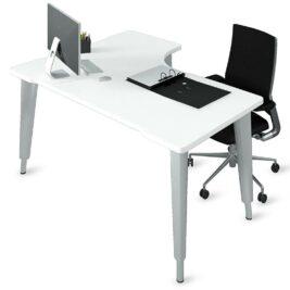 bureau-asymetrique--ligne-elegance-reglable-en-hauteur-aluminium-blanc