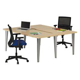 bureau-bench-elegance-blanc-element-depart-aluminium-chene-clair