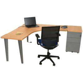bureau-symetrique-ligne-elegance-hetre-aluminium-avec-caisson-hauteur-bureau