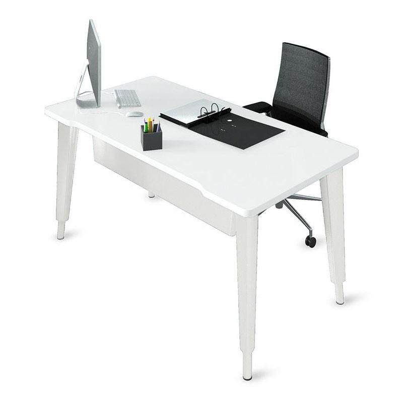 bureau droit hauteur r glable ligne l gance armoire plus. Black Bedroom Furniture Sets. Home Design Ideas