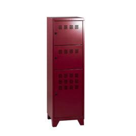 Casier-Multicases-3-portes-avec-pieds-hauteur-133-CM-rouge-rubis-nacre