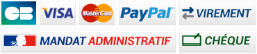 Carte bleue, Visa, Master Card, Virement, Chèque, Mandat administratif