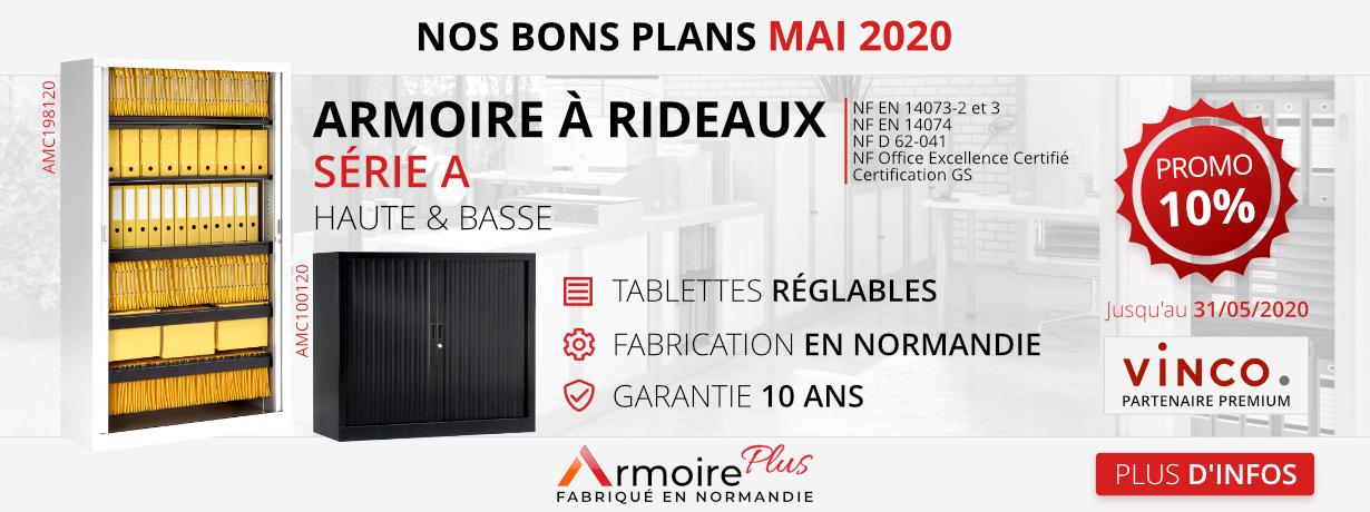 Promotion Armoire à Rideaux Mai 2020